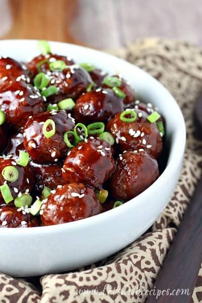 Slow Cooker Teriyaki Meatballs