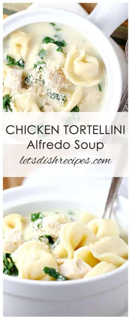 Chicken Tortellini Alfredo Soup