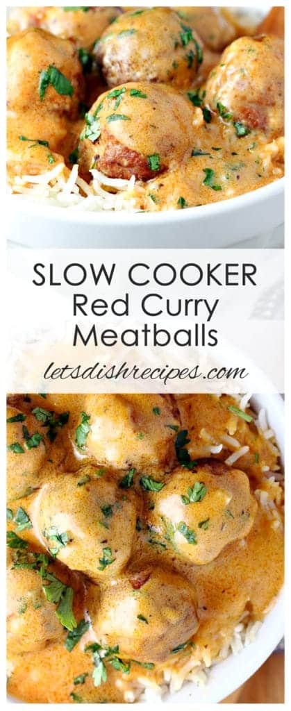 Slow Cooker Red Curry Meatballs