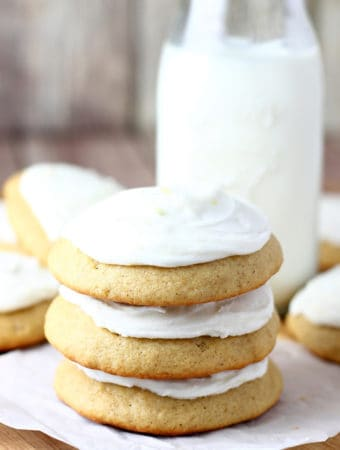 Banana Spice Cookies with Lemon Frosting