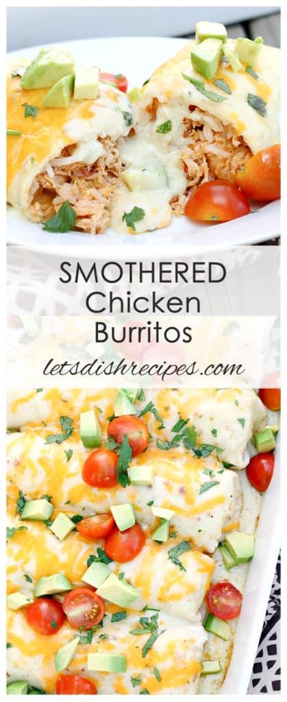 Smothered Chicken Burritos