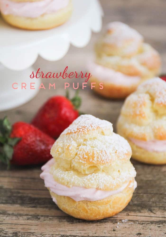 Easy Strawberry Cream Puffs