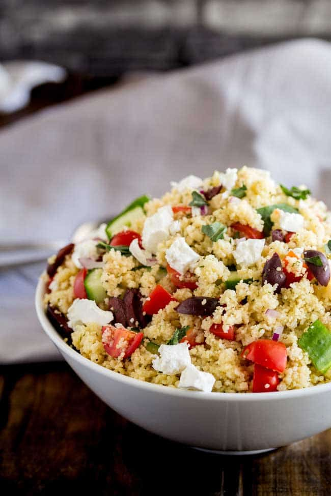 10 Minute Greek Cous Cous Salad