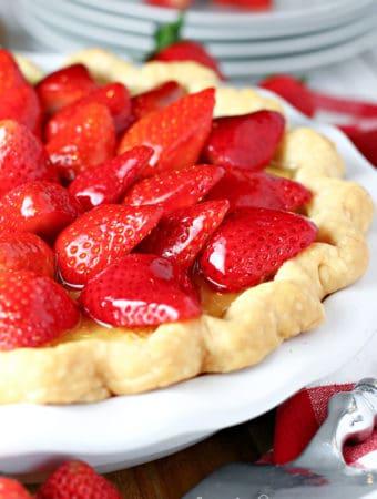Strawberry Buttermilk Pie