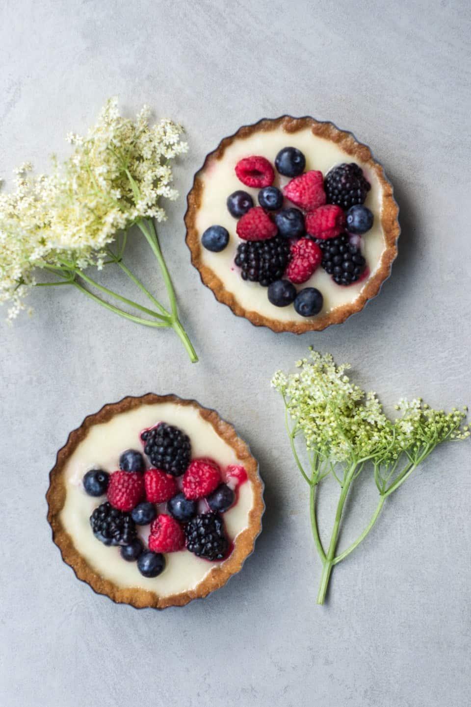Lemon and Berry Tarts