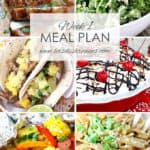 Let's Dish Easy Meal Plan (Week 1)