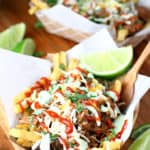 Slow Cooker Sriracha Beef Street Fries