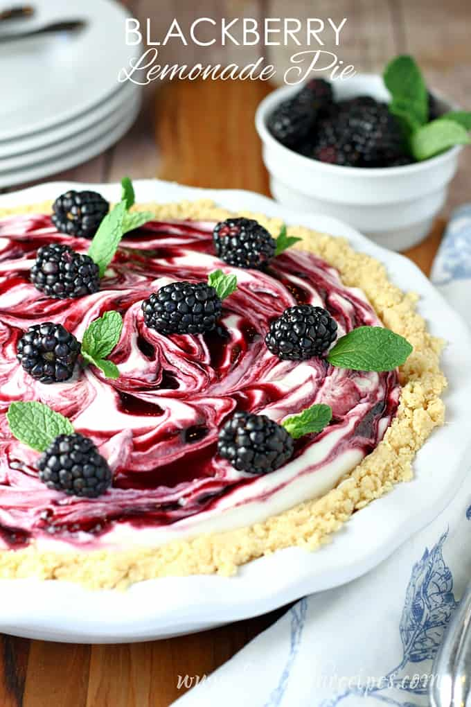 Blackberry Lemonade Pie