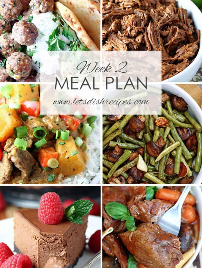 Easy Meal Plan Week 2