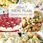 Easy Meal Plan Week 5