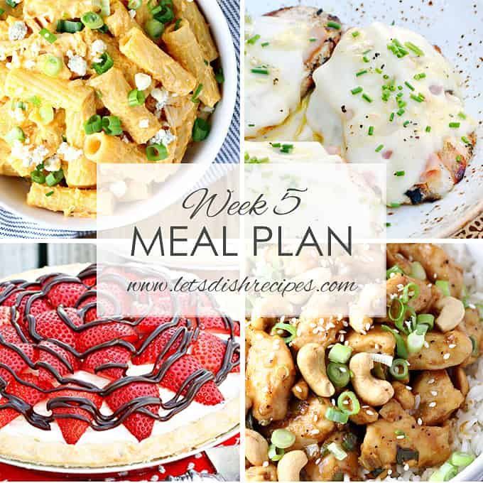 Easy Meal Plan Week 5