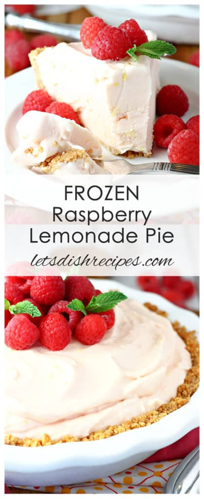 Frozen Raspberry Lemonade Pie