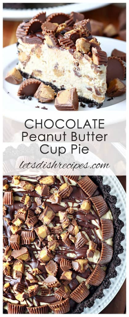 No-Bake Chocolate Peanut Butter Cup Pie