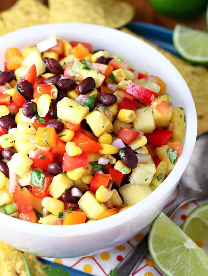 Rainbow Pineapple Salsa