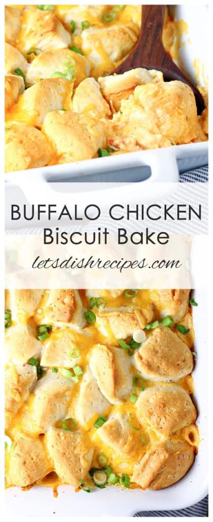 Buffalo Chicken Biscuit Bake
