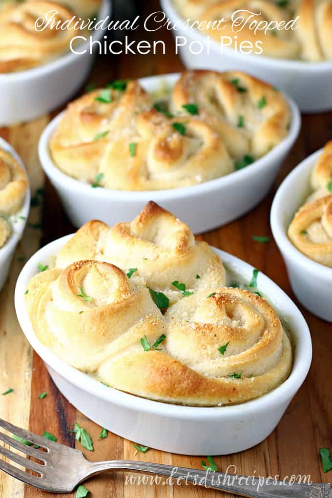 Individual Crescent Topped Chicken Pot Pies
