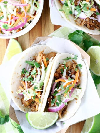 Slow Cooker Korean Pork BBQ Tacos
