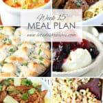 Let's Dish Easy Meal Plan (Week 15)