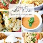 Let's Dish Easy Meal Plan (Week 18)